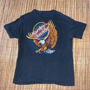 Vintage 1980s Harley Davidson 3D Emblem Eagle RARE